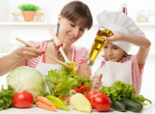 cuisiner avec un enfant